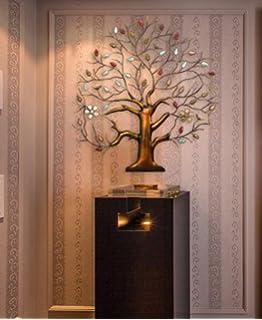 Large Wall Decoration,Stylish Cast Iron Wall Decor,Impressive Garden Decor,31x32  Inch