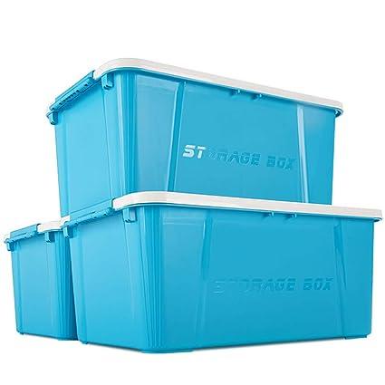 Caja apilable de plástico Grande Grande de 35 litros Contenedor apilable - Caja Realmente útil -
