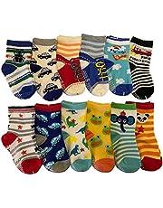 6 Pairs Toddler Girl Anti Slip Mary Jane Socks Baby Girl Gift No Skid Ballet Socks with Strap No Show Crew Socks for 12-30 Months Walker