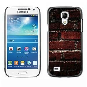 Be Good Phone Accessory // Dura Cáscara cubierta Protectora Caso Carcasa Funda de Protección para Samsung Galaxy S4 Mini i9190 MINI VERSION! // Texture Old Brick Pattern