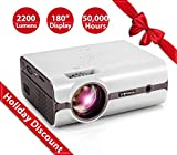 Best Tv Projectors - Crenova XPE496 Projector – 2200 Lumens (+80%) Home Review