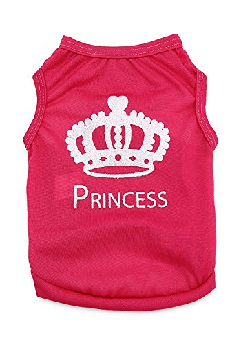 (DroolingDog Pet Dog Shirt Dog Princess Clothes Cat Tshirt Summer Pet Apparel for Small Dogs, Large)