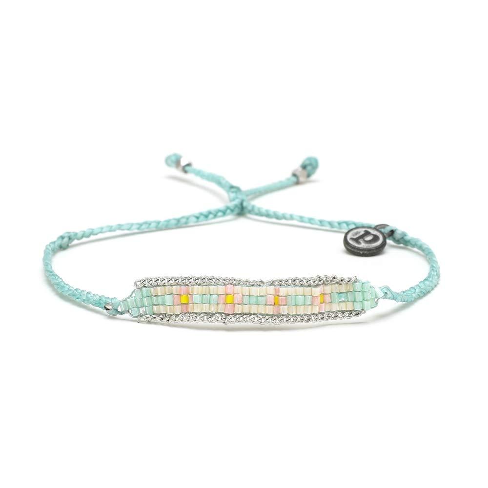 Pura Vida Woven ID Seed Bead Bracelet Fashion Jewelry for Girls//Women 841696129213 Artisan Handmade Adjustable Threaded Waterproof