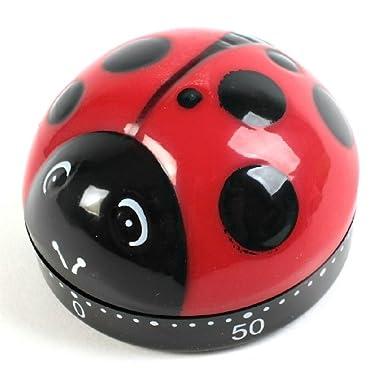 Kikkerland Ladybug Kitchen Timer, 3-Pack