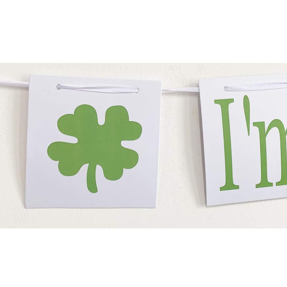 Patricks Day Decorations Photo Props MAGQOO Kiss Me Im Irish Banner Bunting St Patricks Day Banner Irish Party Decor St