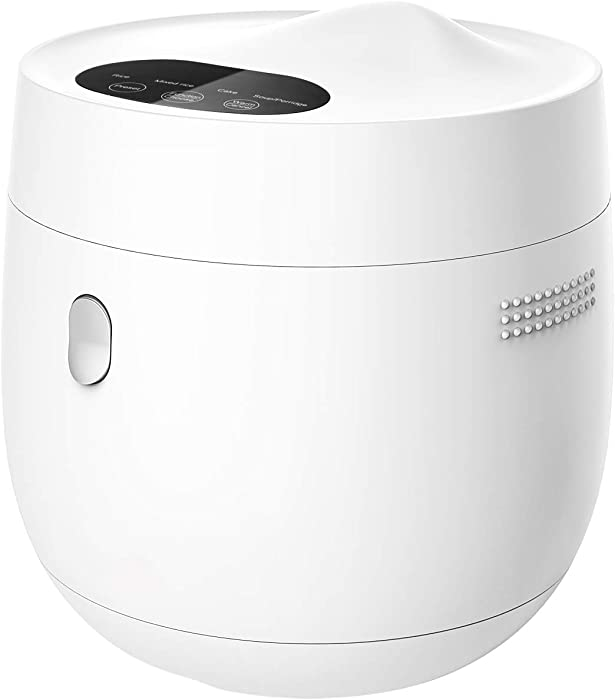 Mishcdea Rice Cooker, Medium Size Cooker for 3-4 People, Multi Food Steamer, 24 Hours Preset, Portable Rice Cooker 4 Cups (Uncooked), White