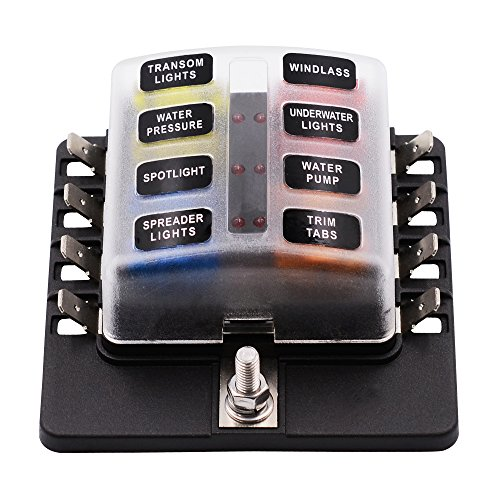 faylapa blade fuse block 8 way fuse box holder with led light for rh eissue org water in my car fuse box