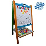 Elk & Bear Double Sided Magnetic Whiteboard Painting Easel for Small Kids and Toddlers
