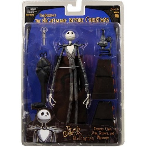 amazoncom nightmare before christmas series 6 jack with desk action figure toys games - Nightmare Before Christmas Action Figures