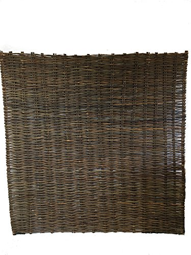 (MGP Willow Woven Hurdle Panel, 6'W x 6'H/pcs, Brown Color (2))
