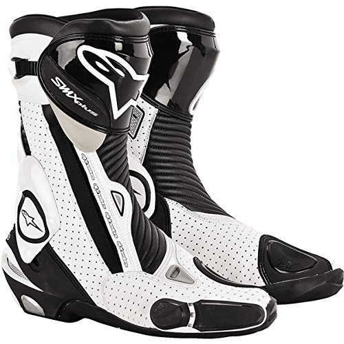 Alpinestars S-MX Plus Vented Men's Leather Street Motorcycle Boots - Black/White / Size 46