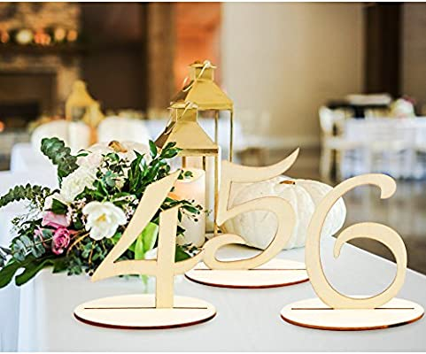 Aerwo Wooden Table Number 1 20 Wedding Table Number Holder