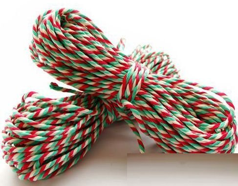 'Jingle Bell' Candy Stripe Twine/String - Buy 10m Get 10m Free Tongmaster