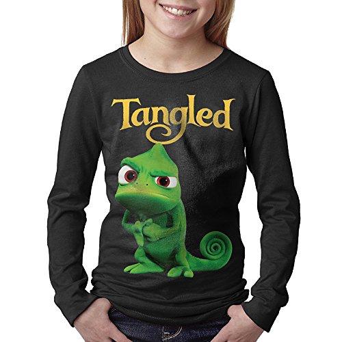 KIHOYG Youth Tangled Rapunzel Logo Long Sleeve T-shirt