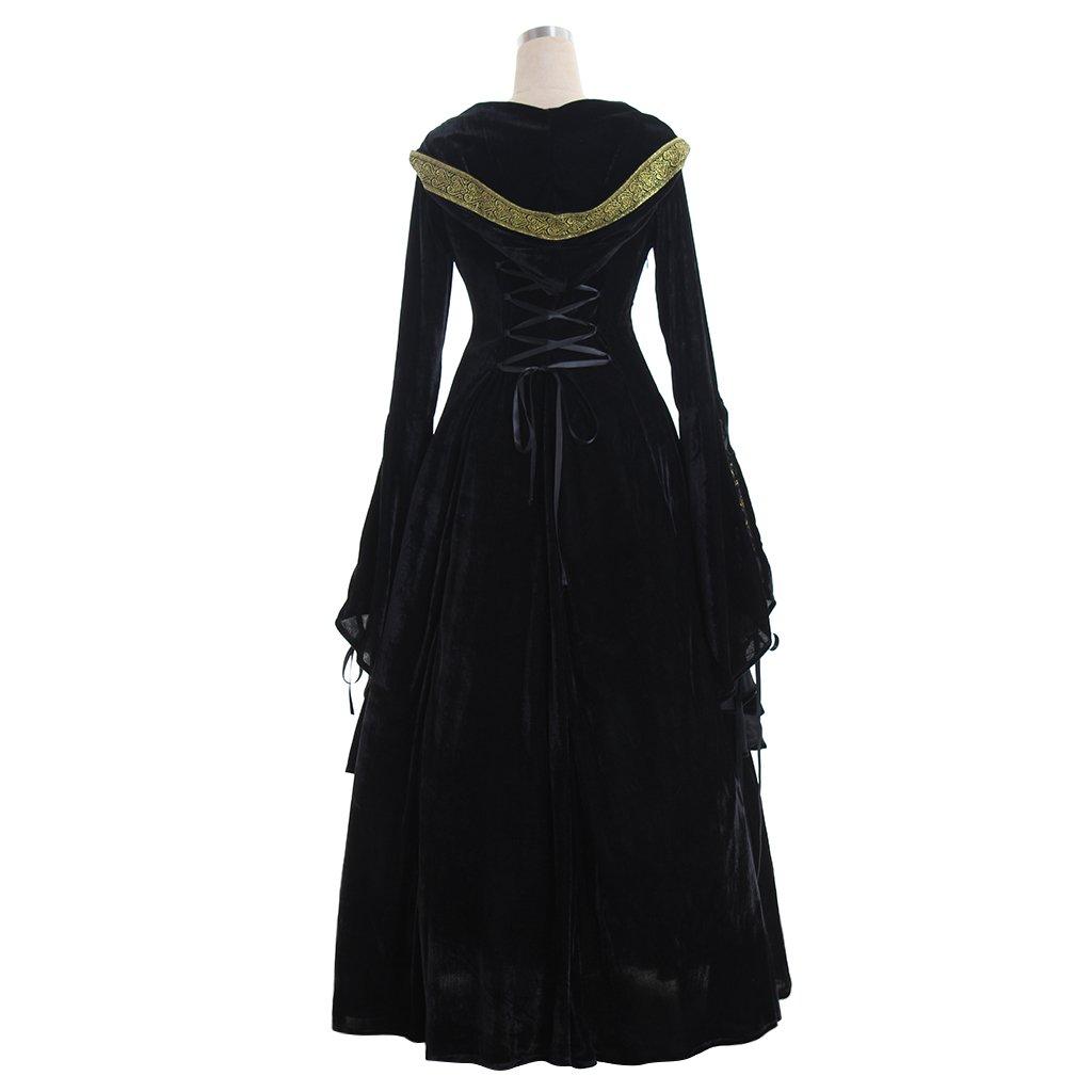 CosplayDiy Women's Medieval Renaissance Retro Gown Cosplay Costume Dress CM Green by CosplayDiy (Image #4)