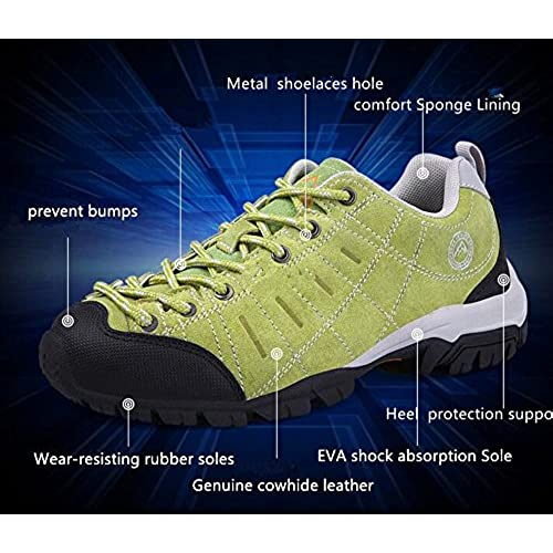 e67128e9d Men and Women s Outdoor Light Suede Leather Trail Running Shoes Hiking  Breathable Non-Slip Sneakers