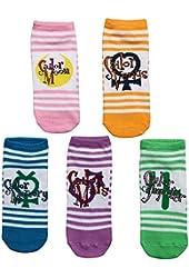 Sailor Moon, Venus, Mercury, Mars, and Jupiter 5 Pack of Low Cut Womens Socks