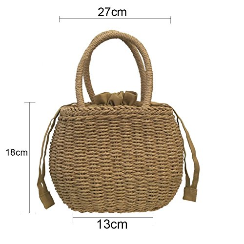Straw Household Nordic Bag Beach Handmade Prom Woven Women's Bag Knitted Style Summer Tote Bag Minimalist Storage Note Retro Package Bag Handbags Beach 6SwwHxPq