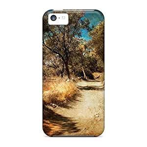 Premium Iphone 5c Case - Protective Skin - High Quality For Road Less Traveled