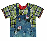 Faux Real Men's Hillbilly, Blue/Yellow, XX-Large