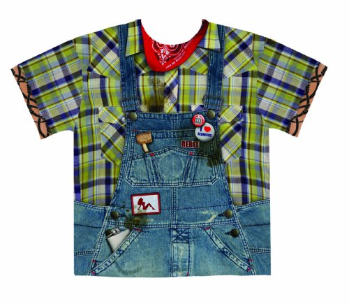 Faux Real Men's Hillbilly, Blue/Yellow, X-Large (Male Halloween Outfits)