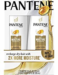 Pantene Pro-V Daily Moisture Renewal Hydrating Shampoo and Conditioner Dual Pack, 12.6 Fl Oz and 12 Fl Oz (Pack of 2)