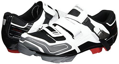 Shimano MTB - Zapatos de bicicleta de montaña Multicolor (Blanco/ Negro/ Rojo/ Gris)