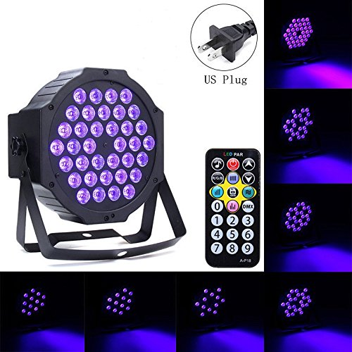 72W Black Light DJ Lights UV Blacklight Stage Spotlight 36 LEDs Auto Lighting Voice Control for Party Wedding Disco Club with Control by Deep Dream (Image #7)