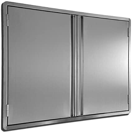 CIOGO Outdoor Kitchen Cabinets 24x24 Inch Double Wall BBQ Doors, 304 All  Brushed Stainless Steel Double BBQ Access Doors for BBQ Island, BBQ Grill,  ...
