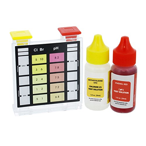 U S Pool Supply Standard 3 Way Swimming Pool Spa Test Kit Tests Water For Ph Chlorine And