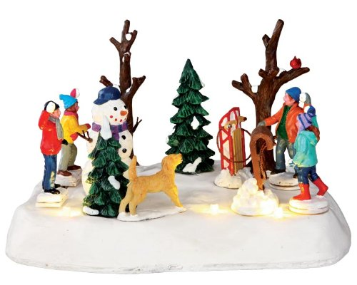 2013 Look Out! Lighted Animated Snowball Fight Christmas Village Table Accent Lemax UKASNHKTN9900