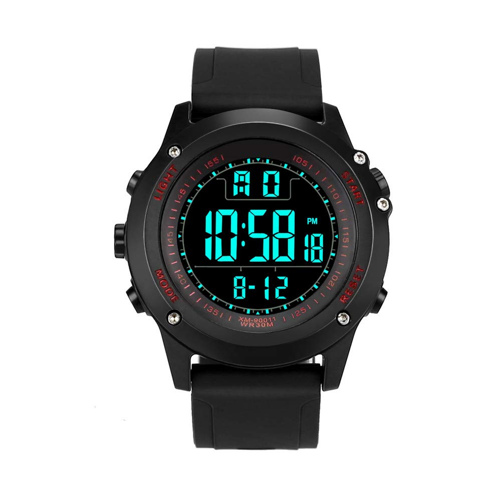 Sport Watches for Men Waterproof DYTA 5ATM Water Resistant Outdoor Digital Watches with Silicone Strap Rubber Cases LED Military Army Wrist Watch Relojes De ...