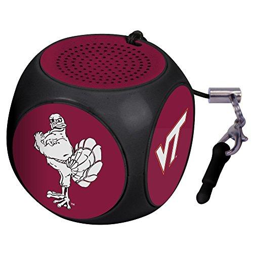 NCAA Virginia Tech Hokies MX-100 Cubio Mini Bluetooth Speaker, Black, One Size (Tech Hokies Virginia Gear)