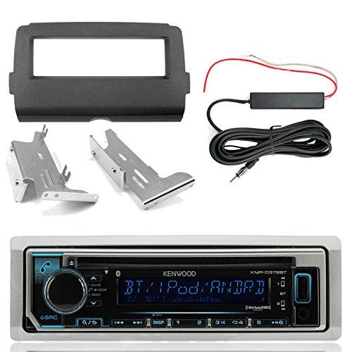 Kenwood KMRD372BT Marine CD Bluetooth Radio, Enrock Harley Dash Kit, Hide Away Antenna Booster Kit (Select 2014-Up Harley Davidson)
