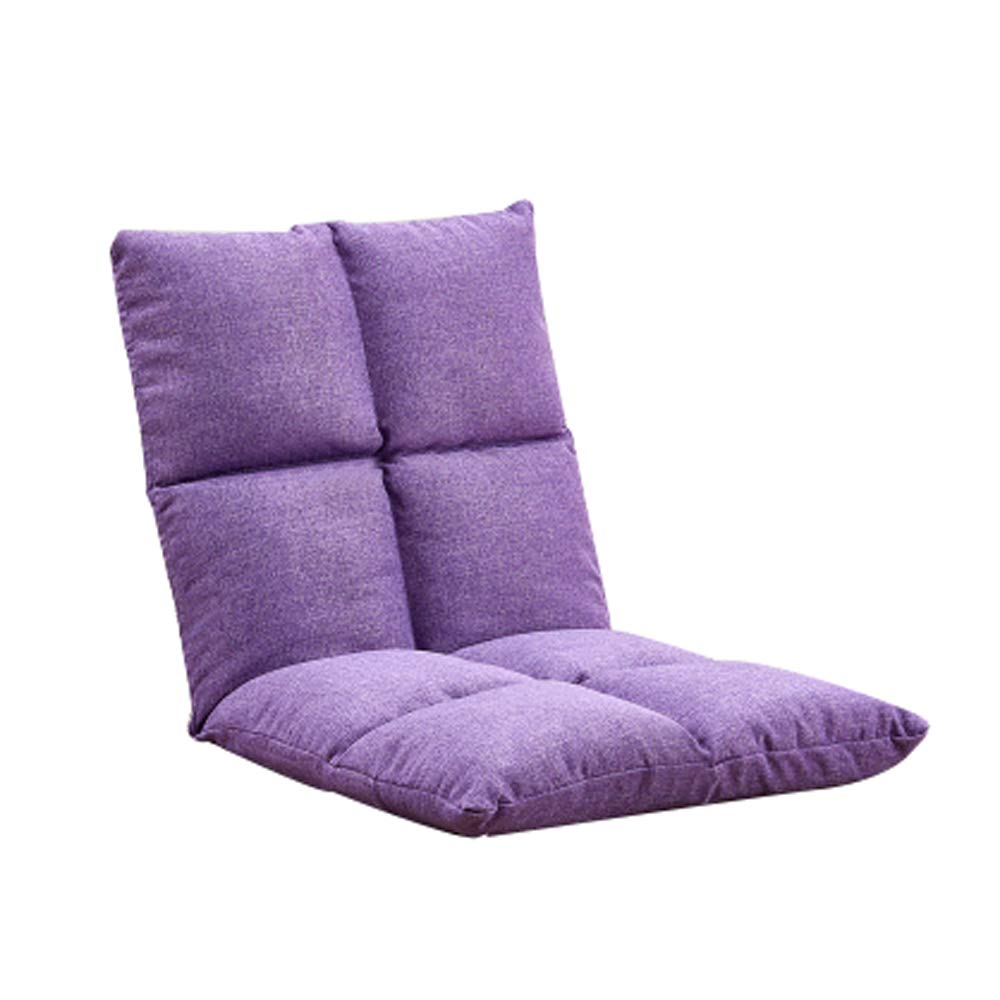 PURPLE Floor Chair, Lazy Couch Chair Single Foldable Meditation Chair Bed Computer Chair Bedroom Bay Window Leisure Chair, Multi-color Optional (color   Brown)
