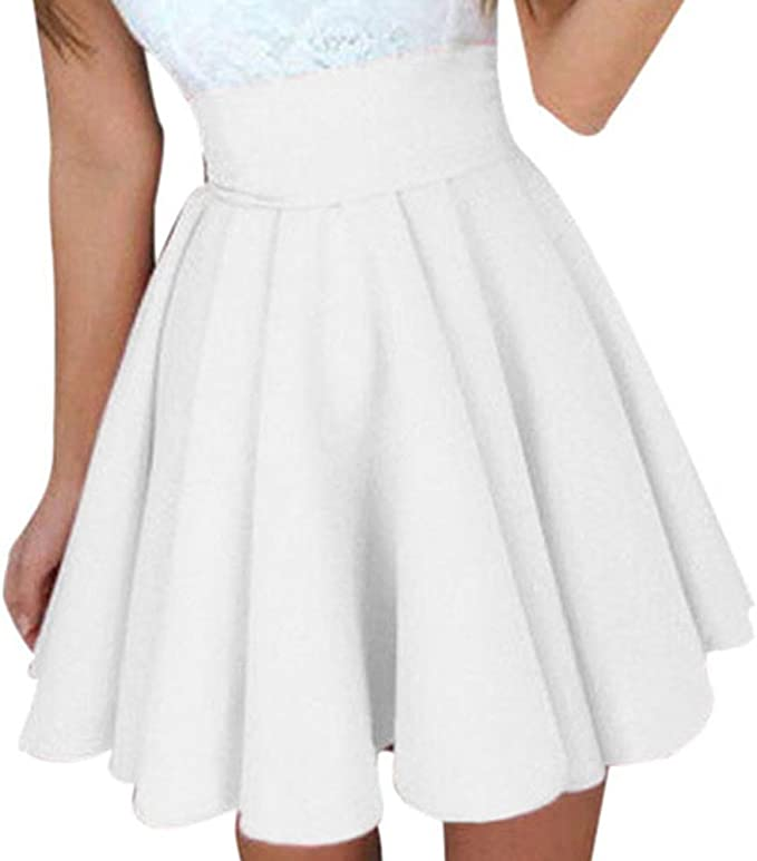 Fashion Womens Casual Maxi Pleated High Waist Stretch Swing Cocktail Skirts New