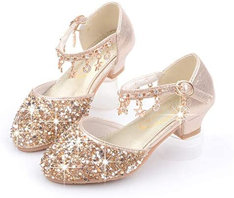 Girls Dress Pumps Glitter Sequins Princess Mary Jane Party
