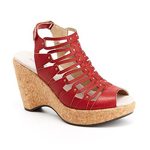 Jbu Par Jambu Lillian Femmes Nous 7 Rouge Wedge Sandale Eu 37