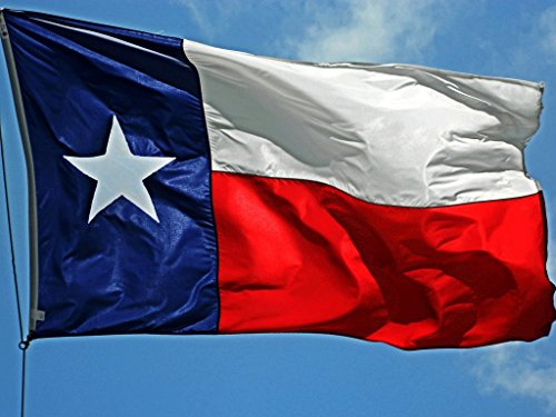 Winbee Texas State Flag 3x5 Ft - 100% US Made Flag Texas with Embroidered Stars, Sewn Stripes and Heavy Duty Long Lasting Nylon, UV Protected, 3 by 5 USA Flag and Texas Flag