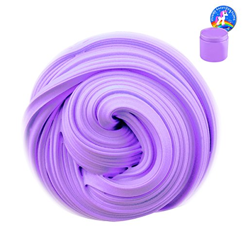 Fluffy Slime, 12 OZ Super Soft and Non-sticky Floam Slime Stress Relief Toy Scented Sludge Toy for Kids and Adults, New Year Gift Children Arts Crafts Party School Supplies, ASTM Certified(Purple)