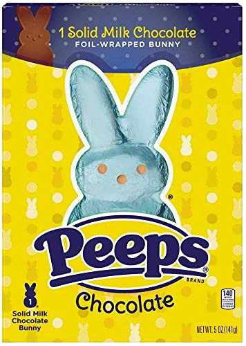 Peeps Solid Milk Chocolate Foil Wrapped Easter Bunny Basket Stuffer, 5 Ounce]()