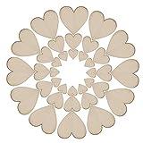 Zadaro 100pcs Mini Small Unfinished Wooden Love Heart Shape Wedding Plaque Art Craft Decoration Embellishment