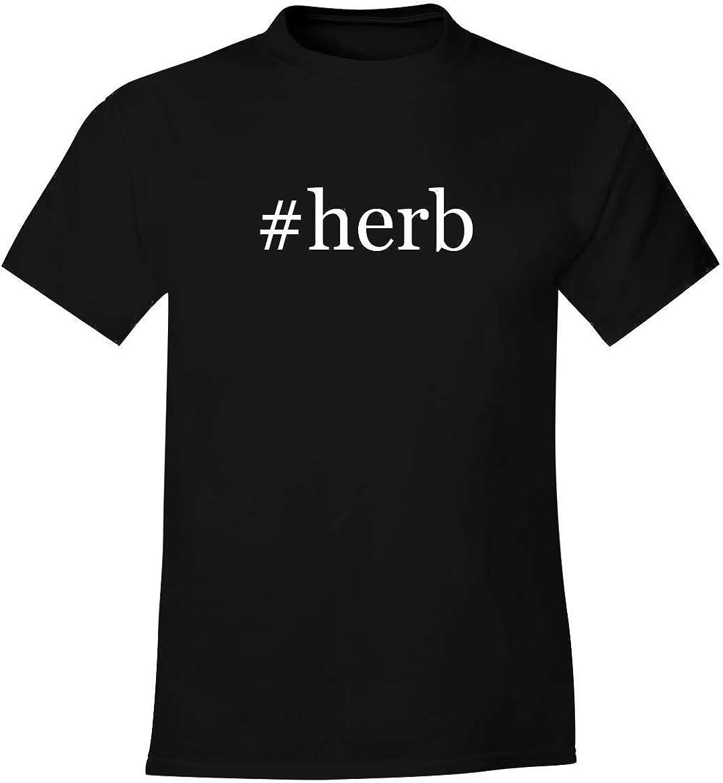 #herb - Men's Soft Comfortable Hashtag Short Sleeve T-Shirt