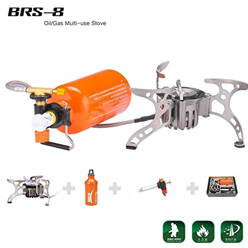 BRS Portable Fuel Outdoor Backpacking Furnace Oil Gas Multi-Use Stove Camping Stove Picnic Gas Stove Cooking Stove BRS-8