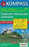 Kompass Karten, Südtiroler Weinstraße, Unterland (Carte de Randon)