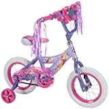 Disney Princess 12-inch Girls' Bike by Huffy, Ideal for Ages 3-5 and Rider Height 37-42 inches, Magic Mirror Lights to Reveal Princesses, Sparkly Streamers, Easy 5-Step Assembly, Style 22457