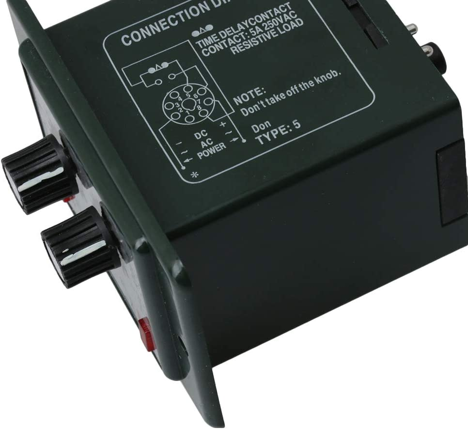 BQLZR DC 12/V Delay Minuteur r/ép/étition de temps de Cycle Relais r/églable 0 6S 5/A Contact