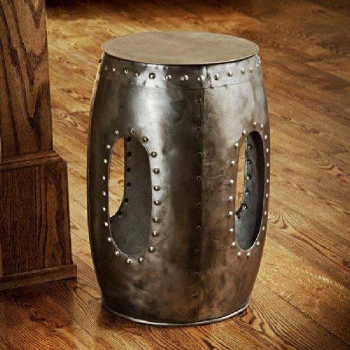 Metro Shop Steel Round Rivet Barrel Stool (India) - Buy