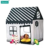 Pericross Kids Playhouse Large Play Ttents (black&white)
