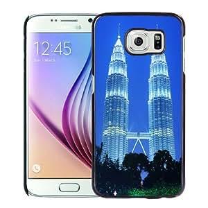 NEW Unique Custom Designed Samsung Galaxy S6 Phone Case With Petronas Towers Kuala Lumpur Malaysia_Black Phone Case
